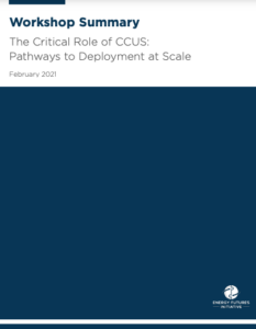 The Critical Role of CCUS: Pathways to Deployment at Scale