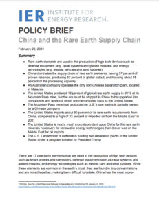 China and the Rare Earth Supply Chain