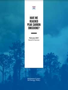 Have We Reached Peak Carbon Emissions?