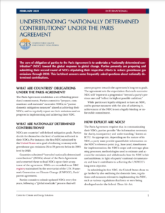 Understanding 'Nationally Determined Contributions' Under the Paris Agreement