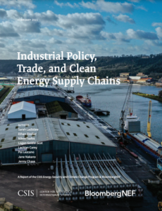 Industrial Policy, Trade, and Clean Energy Supply Chains