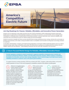 America's Competitive Electric Future: 100-Day Roadmap for Cleaner, Reliable, Affordable, and Innovative Power Generation