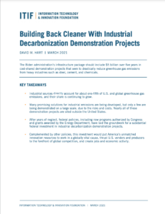Building Back Cleaner With Industrial Decarbonization Demonstration Projects