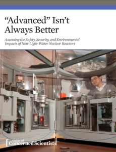"""""""Advanced"""" Isn't Always Better: Assessing the Safety, Security, and Environmental Impacts of Non-Light-Water Nuclear Reactors"""