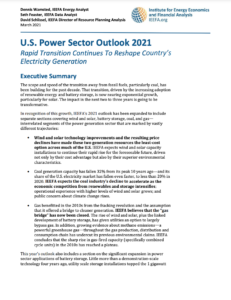 U.S. Power Sector Outlook 2021: Rapid Transition Continues to Reshape Country's Electricity Generation