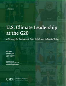 U.S. Climate Leadership at the G20: A Strategy for Investment, Debt Relief, and Industrial Policy