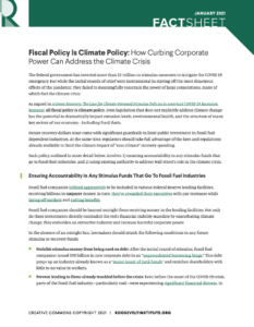 Fiscal Policy Is Climate Policy: How Curbing Corporate Power Can Address the Climate Crisis