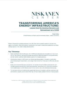Transforming America's Energy Infrastructure: Lessons from the American Recovery and Reinvestment Act of 2009
