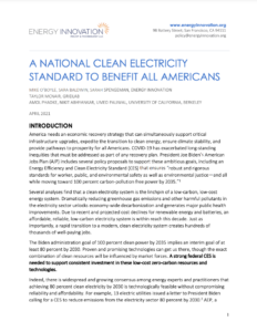 A National Clean Electricity Standard To Benefit All Americans