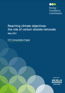 Reaching Climate Objectives: the Role of Carbon Dioxide Removals