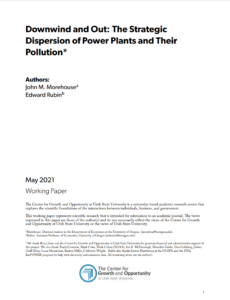 Downwind and Out: The Strategic Dispersion of Power Plants and Their Pollution