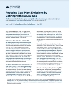 Reducing Coal Plant Emissions by Cofiring with Natural Gas