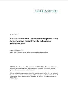 Has Unconventional Oil & Gas Development in the Texas Permian Basin Created a Subnational Resource Curse