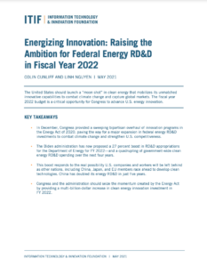 Energizing Innovation: Raising the Ambition for Federal Energy RD&D in Fiscal Year 2022