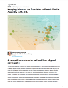 Mapping Jobs and the Transition to Electric Vehicle Assembly in the U.S.