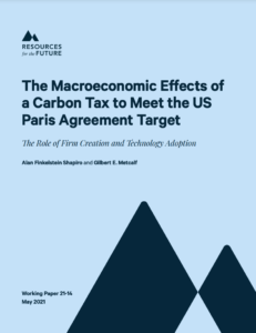 The Macroeconomic Effects of a Carbon Tax to Meet the U.S. Paris Agreement Target: The Role of Firm Creation and Technology Adoption