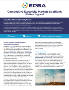Competitive Electricity Markets Spotlight: ISO New England
