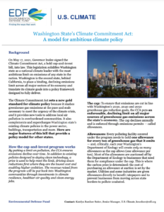 Washington State's Climate Commitment Act: A model for ambitious climate policy
