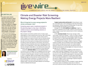 Climate and Disaster Risk Screening: Making Energy Projects More Resilient