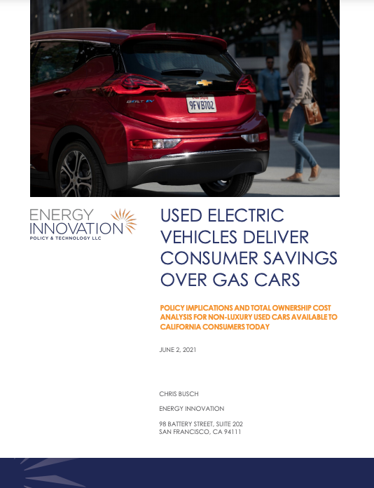 Used Electric Vehicles Deliver Consumer Saving Over Gas Cars