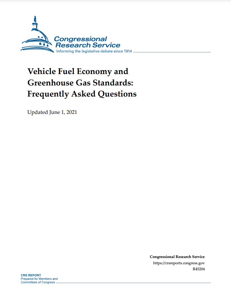 Vehicle Fuel Economy and Greenhouse Gas Standards: Frequently Asked Questions