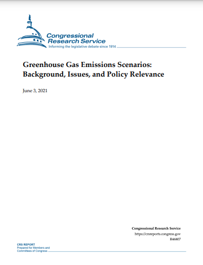Greenhouse Gas Emissions Scenarios: Background, Issues, and Policy Relevance
