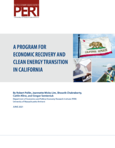 A Program for Economic Recovery and Clean Energy Transition in California