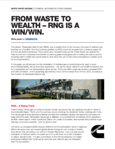 From Waste to Wealth – Renewable Natural Gas is a Win/Win