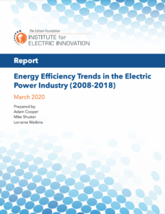 Energy Efficiency Trends in the Electric Power Industry (2008-2018)