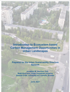 Introduction to Ecosystem-based Carbon Management Opportunities in Urban Landscapes
