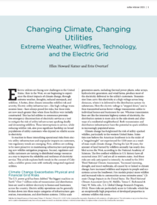 Changing Climate, Changing Utilities: Extreme Weather, Wildfires, Technology, and the Electric Grid