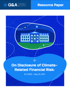 On Disclosure of Climate Related Financial Risk: EO 14030