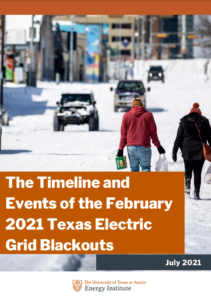 The Timeline and Events of the February 2021 Texas Electric Grid Blackouts