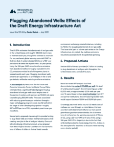 Plugging Abandoned Wells: Effects of the Draft Energy Infrastructure Act