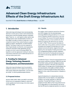 Advanced Clean Energy Infrastructure: Effects of the Draft Energy Infrastructure Act