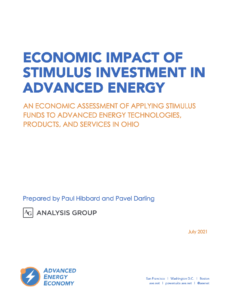 Economic Impact of Stimulus Investment in Advanced Energy: An Economic Assessment of Applying Stimulus Funds to Advanced Energy Technologies, Products, and Services in Ohio