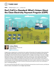 Don't Call it a Standard: What's Unique About the Clean Electricity Payment Program (CEPP)