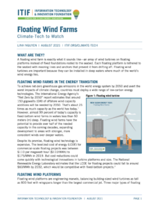 Climate-Tech to Watch: Floating Wind Farms