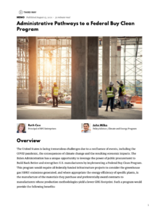 Administrative Pathways to a Federal Buy Clean Program