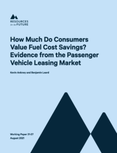 How Much Do Consumers Value Fuel Cost Savings? Evidence from the Passenger Vehicle Leasing Market