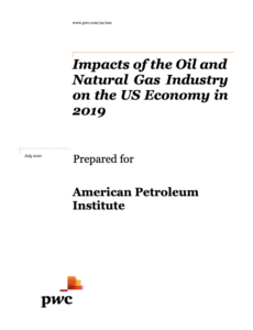 Impacts of the Oil and Natural Gas Industry on the U.S. Economy in 2019