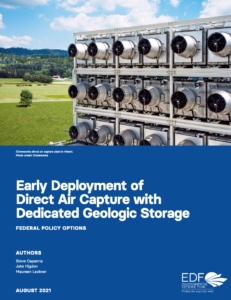 Early Deployment of Direct Air Capture with Dedicated Geologic Storage: Federal Policy Options
