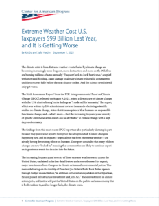 Extreme Weather Cost U.S. Taxpayers $99 Billion Last Year, and It Is Getting Worse