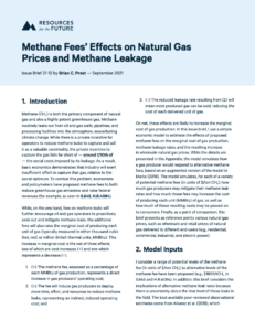 Methane Fees' Effects on Natural Gas Prices and Methane Leakage
