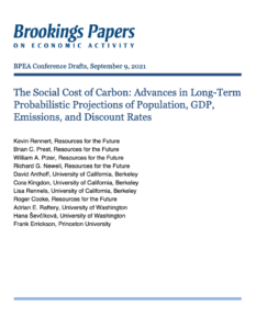 The Social Cost of Carbon: Advances in Long-Term Probabilistic Projections of Population, GDP, Emissions, and Discount Rates