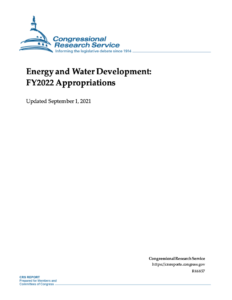 Energy and Water Development: FY2022 Appropriations