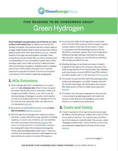 Five Reasons to Be Concerned About Green Hydrogen