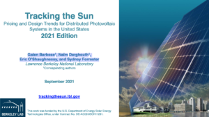 Tracking the Sun 2021: Pricing and Design Trends for Distributed Photovoltaic Systems in the United States