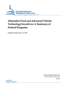 Alternative Fuel and Advanced Vehicle Technology Incentives: A Summary of Federal Programs