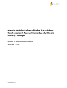 Analyzing the Role of Advanced Nuclear Energy in Deep Decarbonization: A Review of Market Opportunities and Modeling Challenges